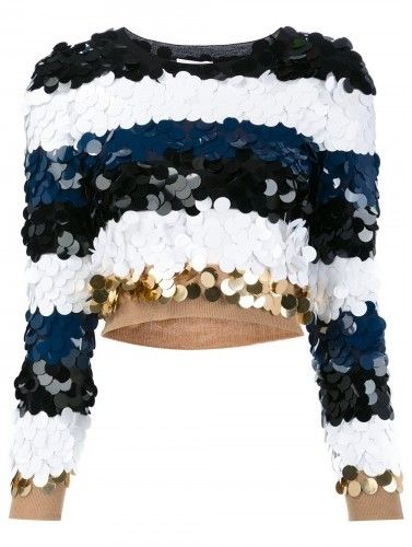 Sonia Rykiel sequined striped jumper