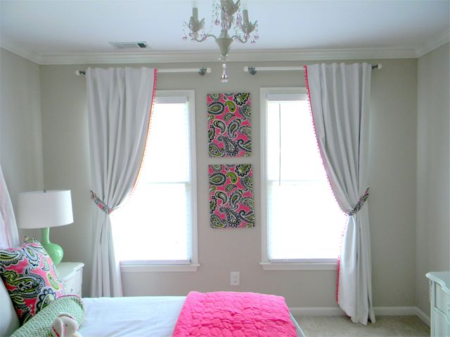 Girl 39 s room if you love paisley pink window for 2 living rooms side by side
