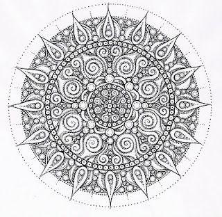 LaBelle Mariposa - beautiful work! Mandala coloring page