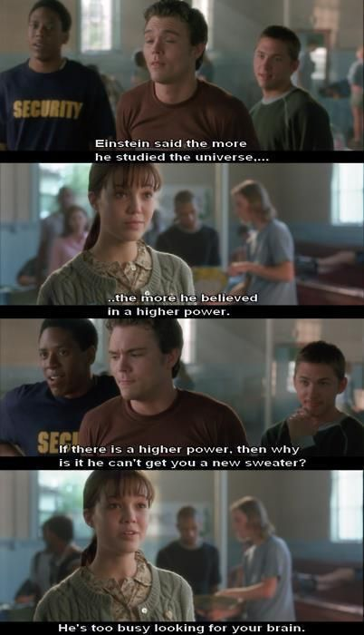 A Walk to Remember, best line of the whole movie :P lol