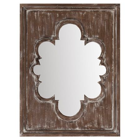 Bring Bold Style To Your Entryway Or Living Room With This Eye Catching Wall Mirror Showcasing A Bronze Finish And Medallion Inspired Cutout