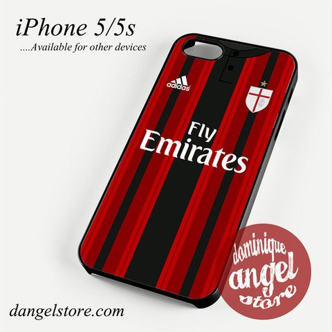 ac milan jersey Phone case for iPhone 4/4s/5/5c/5s/6/6s/6 plus