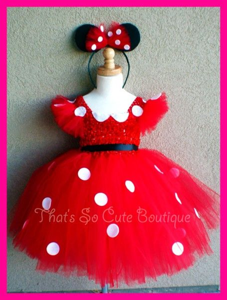 This is pretty similar to what a friend of mine is making for Jillian's Halloween costume...She is going to be Minnie Mouse but her costume is going to be pink :)