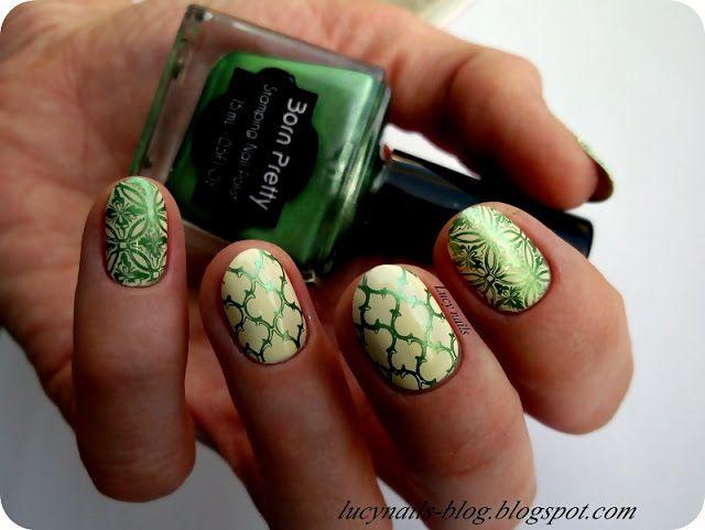 Born Pretty Stamping Nail Polish Green nr 37 ; plate BP-L003 Born Pretty Store