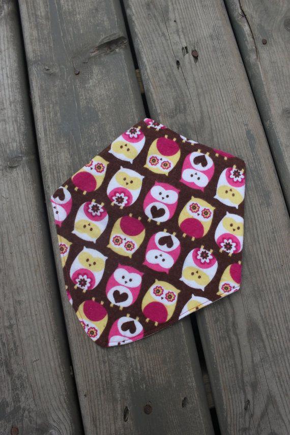 Handmade Baby Bandit Handkerchief Bib  - Li'l Owls on Etsy, $10.50 CAD