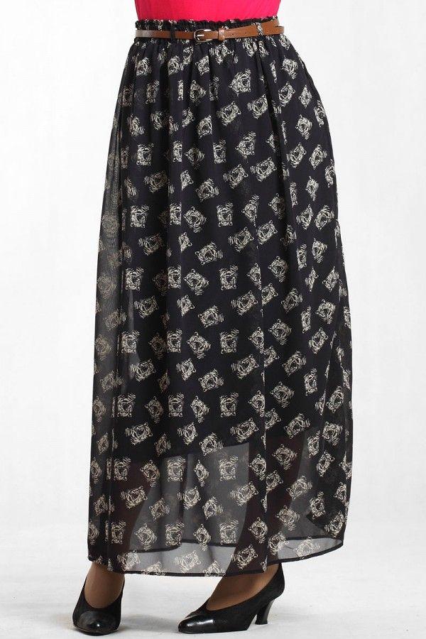 Black Tiger Print Maxi Skirt Belanja baju wanita di toko toko online www.indigotrend.com