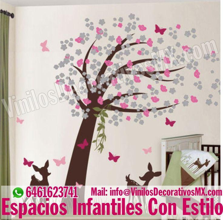 Decoracion de habitacion para ni a con vinilos decorativos - Ideas para decorar paredes infantiles ...