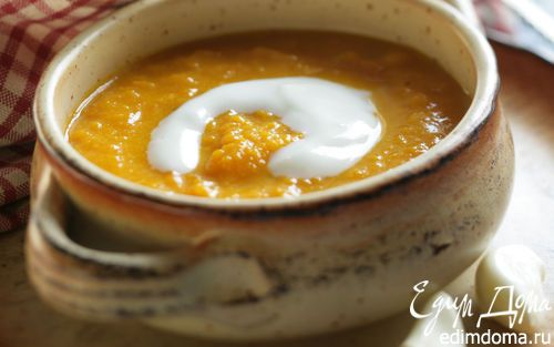 Тыквенный суп на кокосовом молоке | Кулинарные рецепты от «Едим дома!»