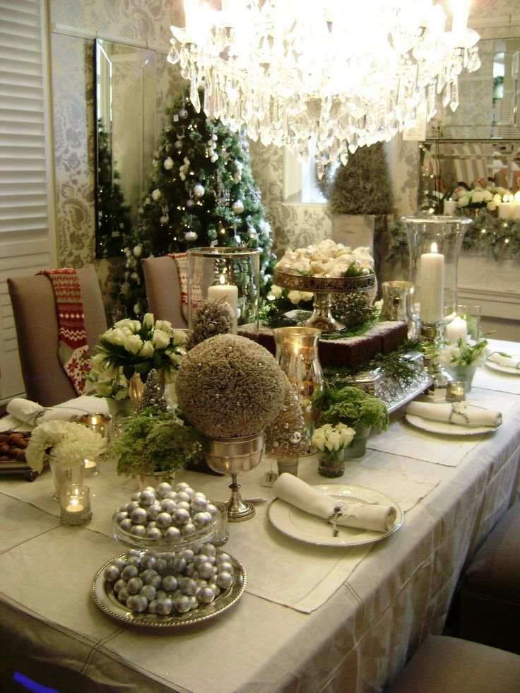 70 best Christmas Table Decor images on Pinterest Merry christmas - christmas table decorations