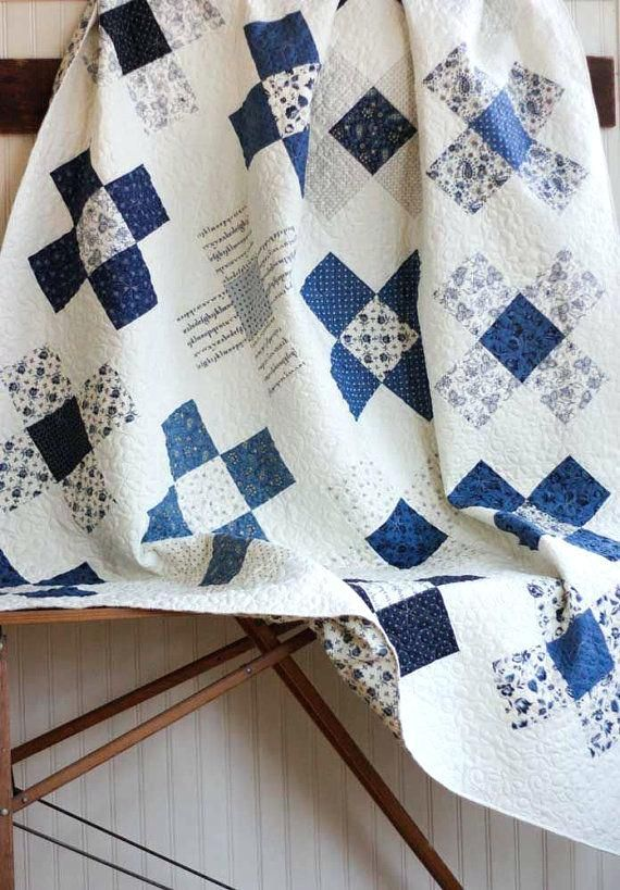 Blue And White Quilts Handmade Navy Blue And White Quilt Covers