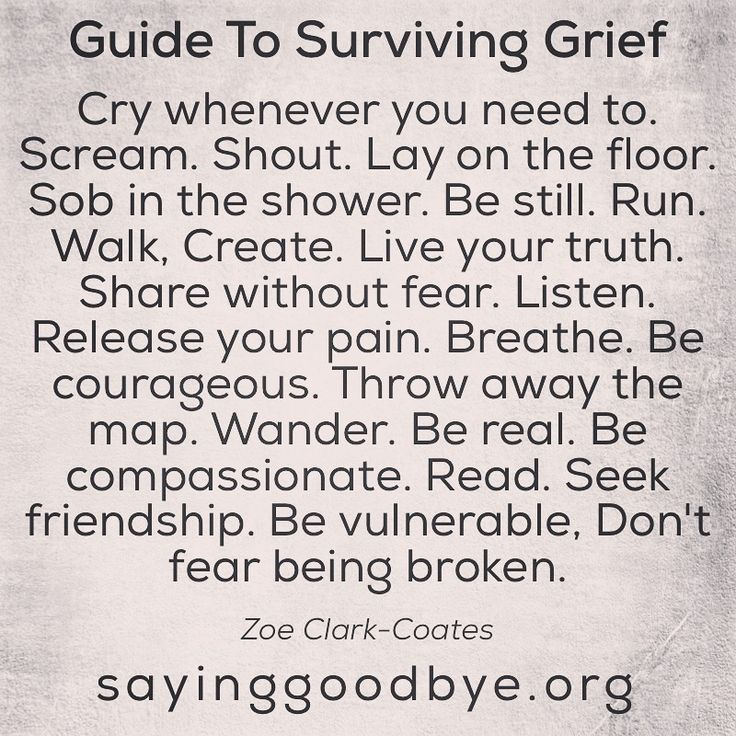 """Surviving grief means """"keep on keeping on"""" even if you're just going through the motions."""