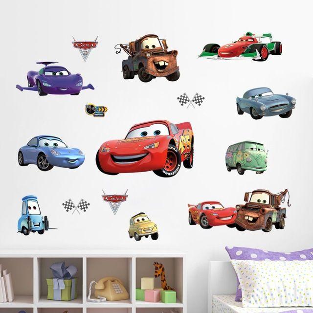 Doprava zdarma ZY1446 New Cars Mateřské Dětský pokoj obývací pokoj TV samolepky na zeď vodotěsný vyměnitelná 3D samolepky domácí…