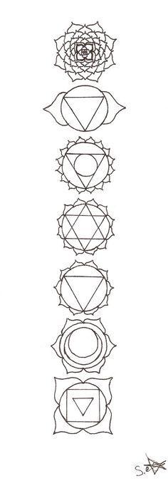 Beautiful 7 Chakra Symbols
