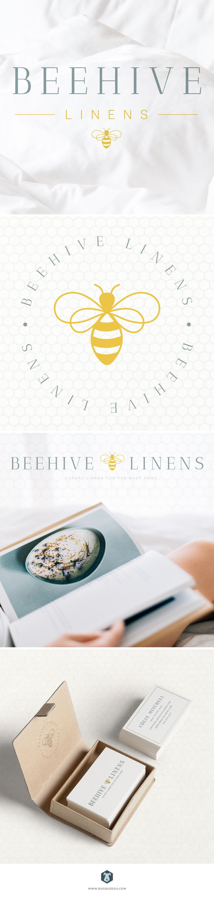 For the brand design, we created a signature Bee icon, with warm yellow, bright clean white and classic welcoming blue hue. In addition to the logo design and icon – we created a business cards, letterhead design, mood board, badge design and more.