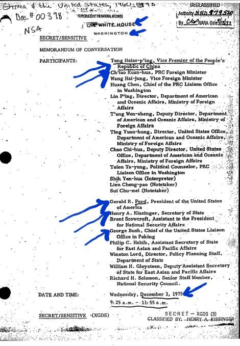 Facts About Africa  @OnlyAfricaFacts  Per the thread, China supported the Angola rebels backed by USA/Israel/apartheid South Africa with arms & guerilla training.  Here's a 1975 conversation between US President Gerald Ford and China's VP on shipping arms to Angola rebels.  Note their views of African nations/leadersnations/leaders