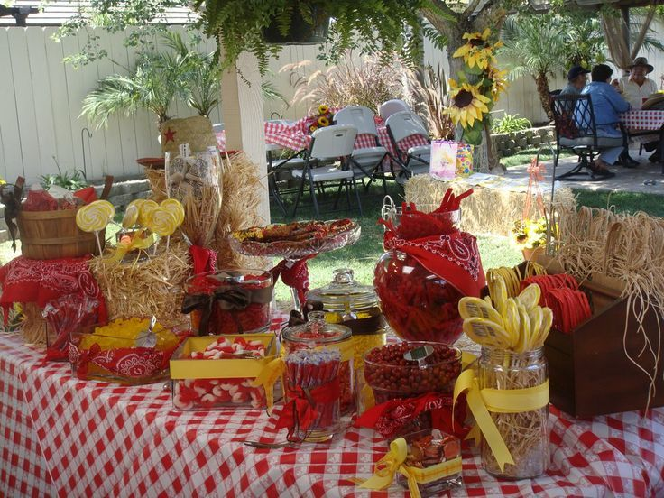 Western Theme Party Candy Buffet