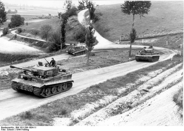 tiger i heavy tanks of the german 1st ss division leibstandarte ss adolf hitler on a