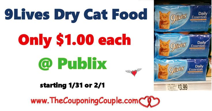 9Lives Dry Cat Food Only $1.00 @ Publix starting 1/31 or 2/1. Be sure to clip your coupons and be ready to score this cheap deal on cat food for you little furry friends this coming week!  Click the link below to get all of the details ► http://www.thecouponingcouple.com/9lives-dry-cat-food-only-1-00-publix-starting-1-31-or-2-1/ #Coupons #Couponing #CouponCommunity  Visit us at http://www.thecouponingcouple.com for more great posts!