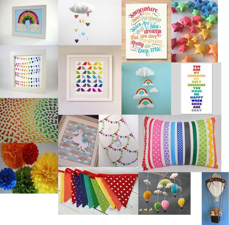 More rainbow nursery ideas the little ls nursery for Rainbow themed baby nursery