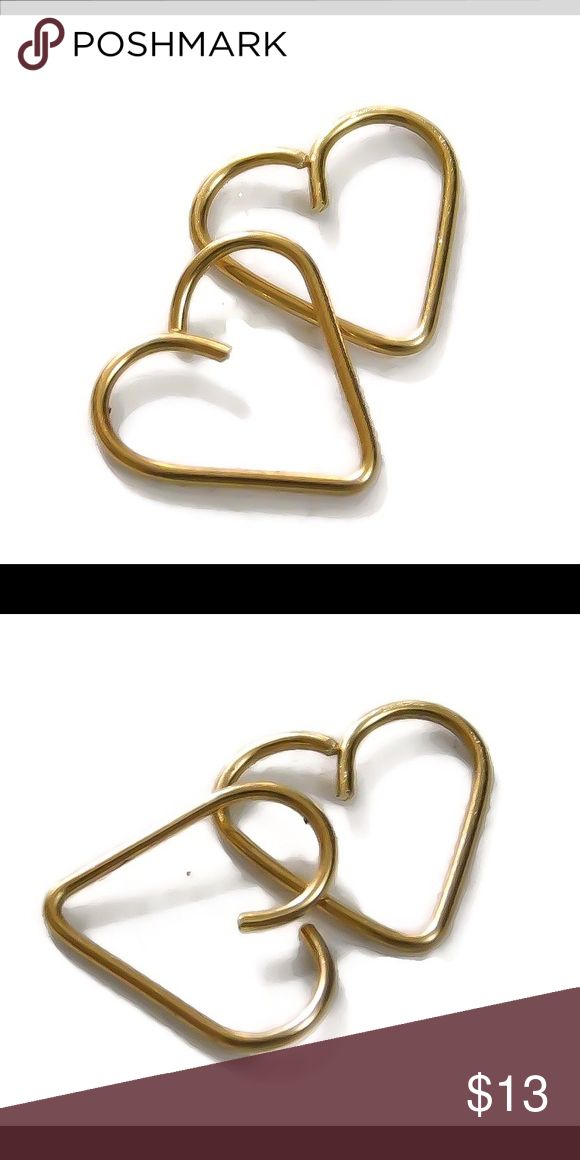 ❗️sale❗️Gold or Rose Gold Cartilage Hoop Earring A single heart shaped daith earring made of either 14k yellow or rose gold filled. Available in 20, 18, or 16 gauge. nejd Jewelry Earrings
