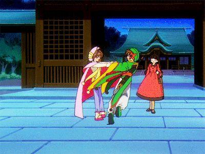 Cardcaptor Sakura Episode 46 | CLAMP | Madhouse / Kinomoto Sakura, Daidouji Tomoyo, and Li Shaoran