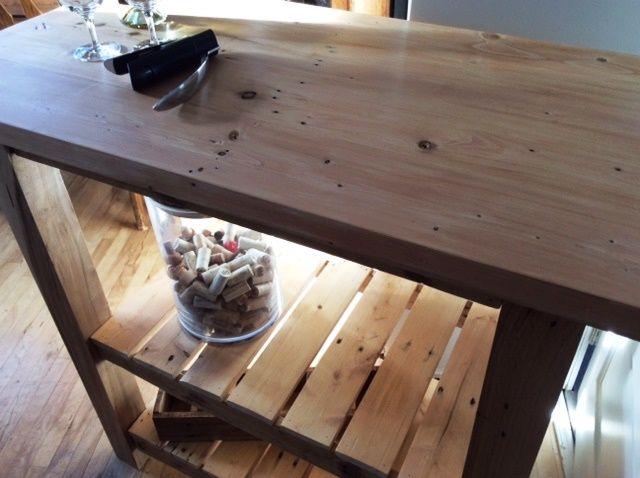 Lot de cuisine rustique fait partir de bois de palette for 0co om cca 9 source table