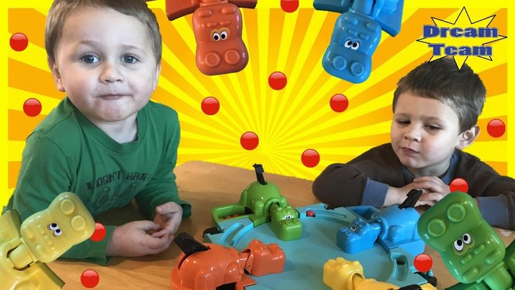 Hungry Hungry Hippo Eats Surprise Chocolate Family Fun Game Surprise Candy
