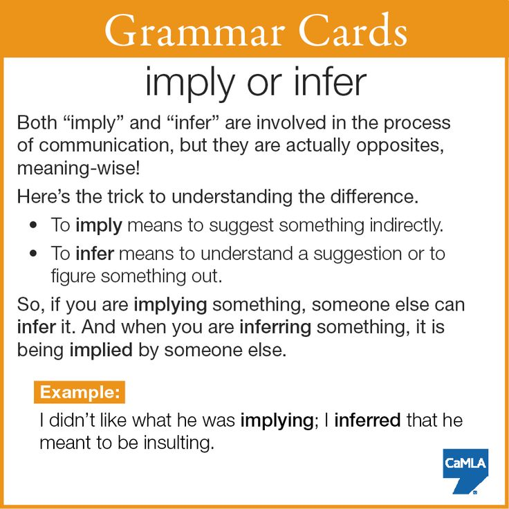 """Hopefully this makes """"imply"""" and """"infer"""" easier for you to use!"""