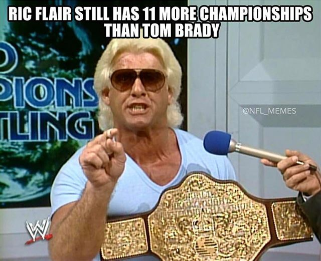 Ric Flair is still better #wrestlingshumor #nflmemes #footballhumor #Sportshumor