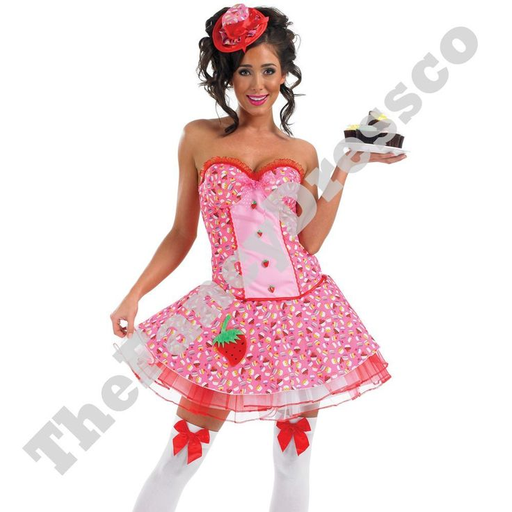 Ladies Sexy Pink Cupcake Girl Katy Perry Womens Fancy Dress Costume Teen NEW #FunShack #CompleteOutfit