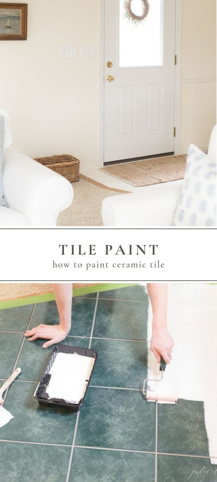 All About How To Paint Ceramic Tile Diy Flooring Tile Ceramictile Painttile Painting Ceramic Tiles Painting Tile Painting Bathroom Tiles
