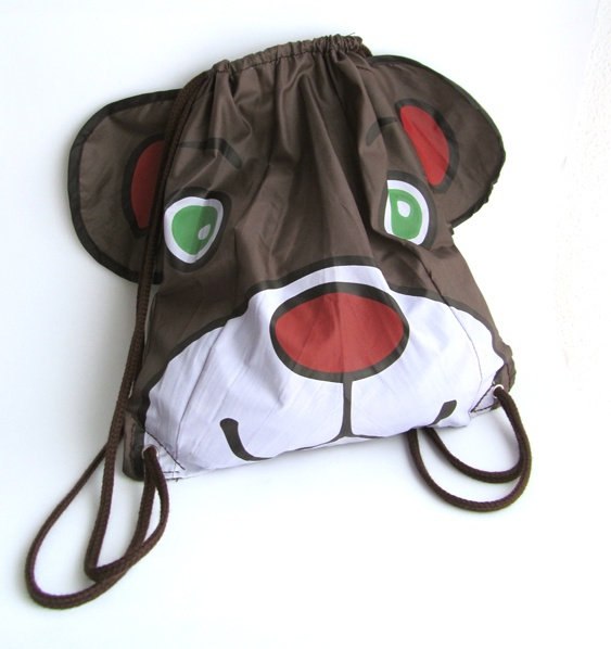 elcuadernodeideas: Mochila oso con la tela de un paraguas