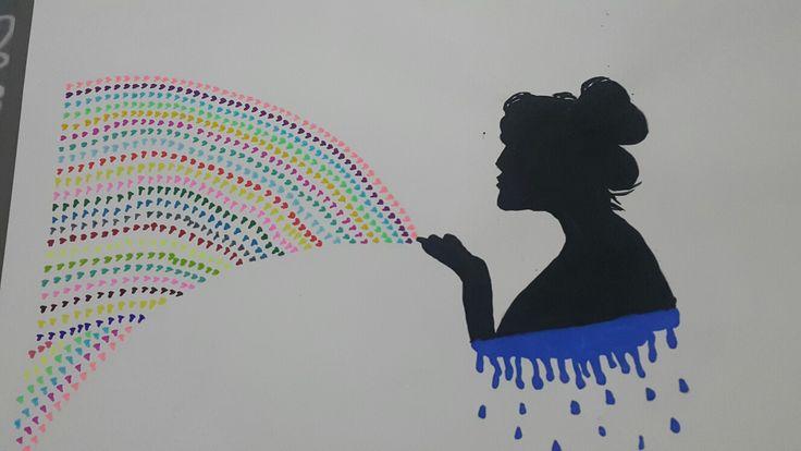 Sulu boya cizim