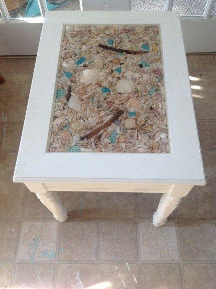 How To Make A Seashell Coffee Table Diy Projects For Everyone Diy Beach Decor Diy Coffee Table Beach Themed Room