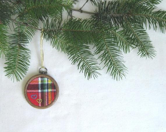#ornament #plaid #christmas #etsy