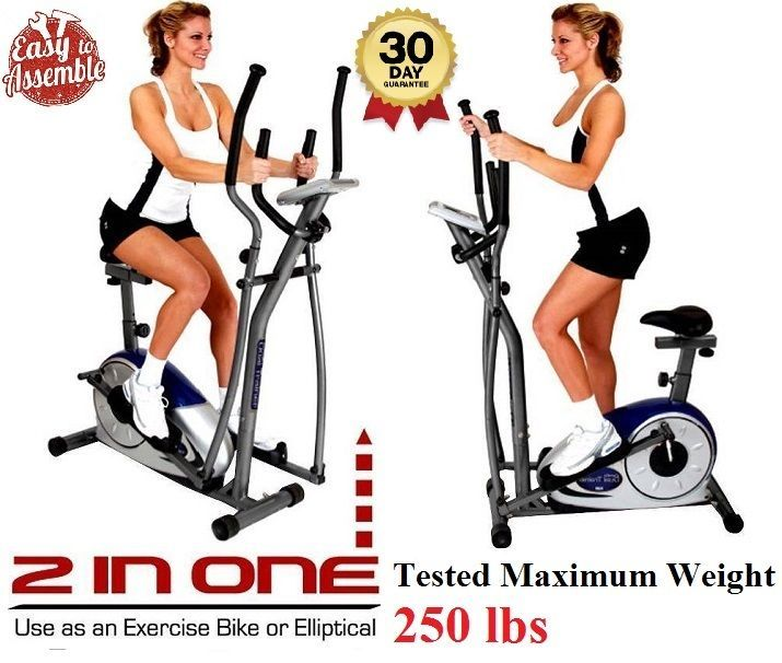 Exercise Machine Elliptical Dual Trainer with Adjustable Seat  Fitness Durable  #BodyTrainer