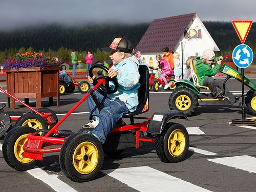 Traffic Park for kids at #Levi #Lapland #Finland