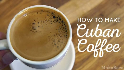 Learn how to make Cuban Coffee (Cafe Cubano) at home with a moka pot. Easy video & printable recipe by MokaBees.