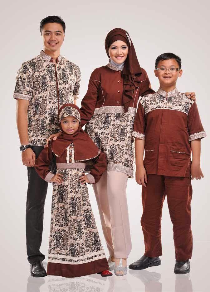 Gambar Baju Couple Muslim Batik Keluarga Terbaru