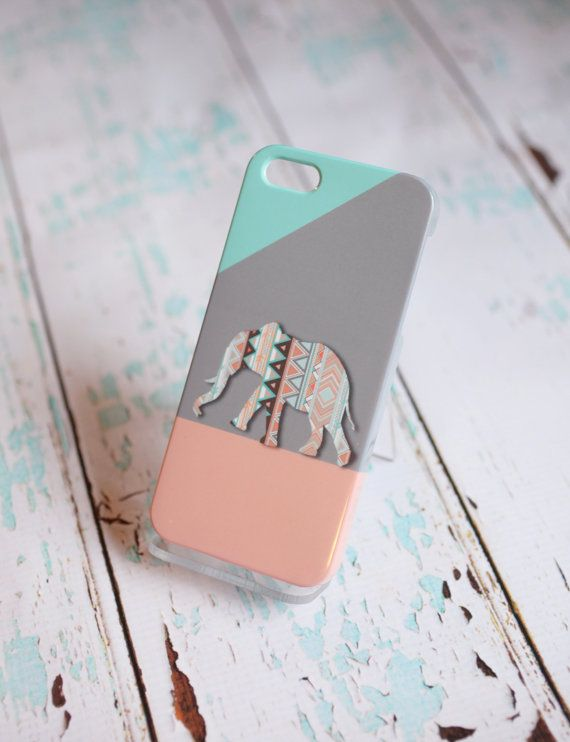 So cute :  Tribal Elephant Phone Case by SunkissedLaughter on Etsy