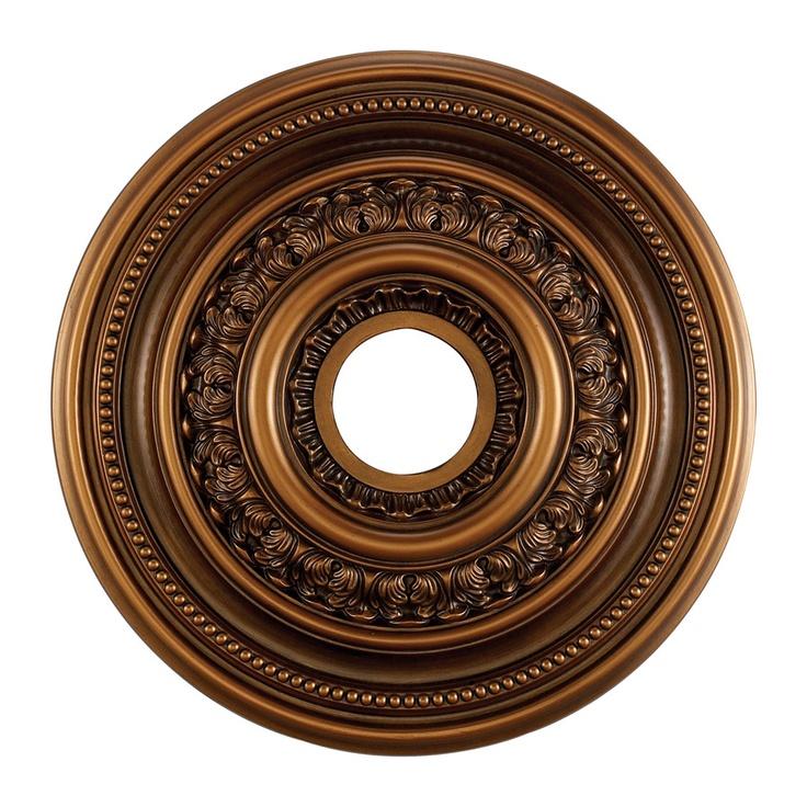 English Study Medallion 18 Inch In Antique Bronze