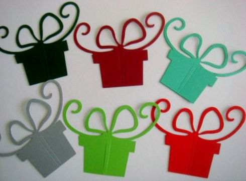 15 large Christmas Gift Boxes for cards/toppers for cardmaking scrapbooking craft on Etsy, £2.25