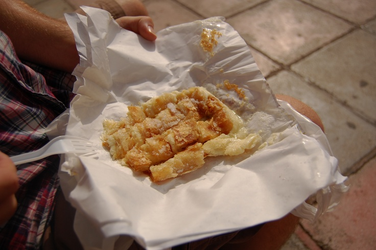 Bougatsa in Hania. Yes please.