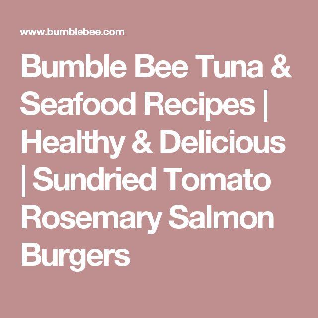 ... | Healthy & Delicious | Sundried Tomato Rosemary Salmon Burgers