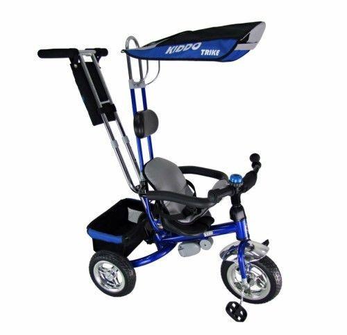 Smart Trike 3Wheeler Children Bike 4-in-1Kids Tricycle Safety Parent Handle Blue #KiddoByRayGar #SmartDesign