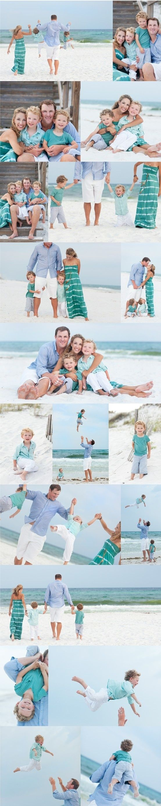 pretty family pictures on the beach!