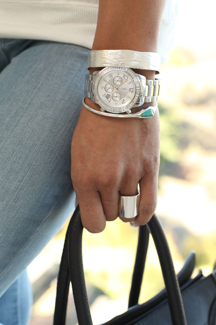 #ArmCandy Perfection --> 3 tips for layering with a #watch! | #Silpada Finishing Touch Watch: Layered Jewelry Silver, Jewelry Layered, Style, Jewelry Bracelets Silver, Silver Arm Candy, Armcandi Perfect, Arm Candy Watches, Arm Candies, Touch Watches