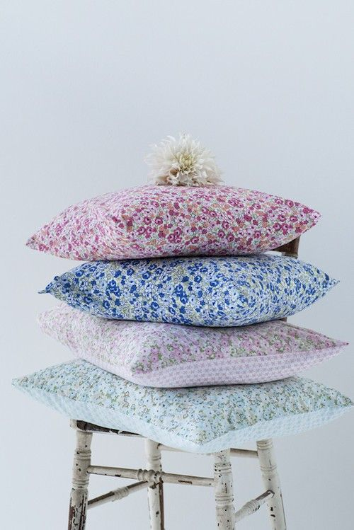 flowery pillows from H home