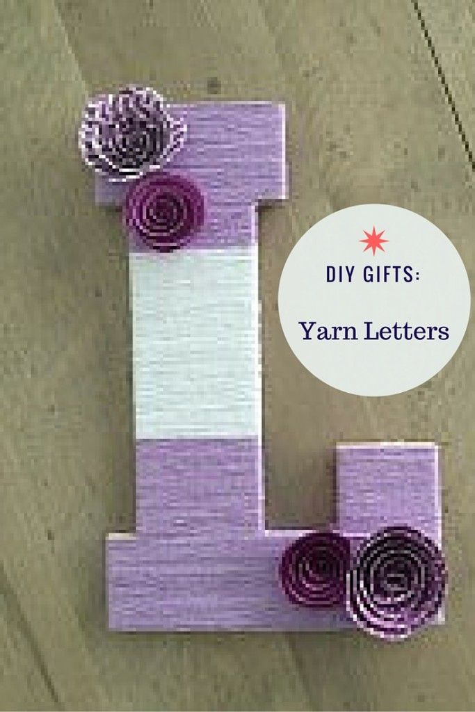 DIY gifts don't get much easier than wrapping letters in yarn.  Get the tutorial.