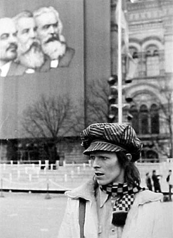 David Bowie in Moscow in 1973.